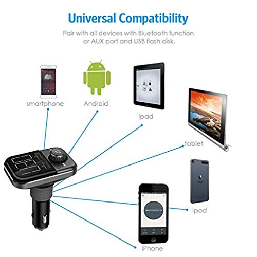 (CARCAMERA Car Bluetooth Transmitter/USB Charger/Music Car Mp3 /Car Wireless Charger/Answer The Phone/Big Screen/Voltage Detection)