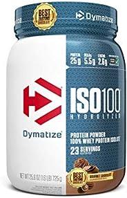 Dymatize ISO100 Hydrolyzed Protein Powder, 100% Whey Isolate Protein, 25g of Protein, 5.5g BCAAs, Gluten Free,