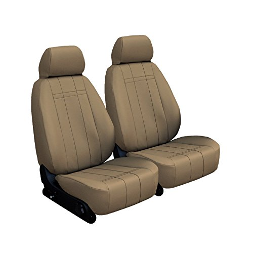 Pickup 454ss (Front Seats: ShearComfort Custom Imitation Leather Seat Covers for Chevy C/K Pickup (1990-1993) in Beige for HighBack Sport Buckets (454SS Model))