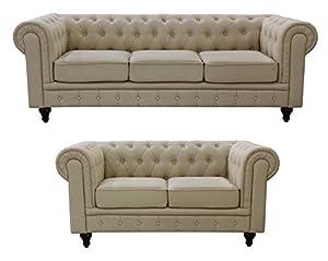Us Pride Furniture S5071 2pc Linen Fabric