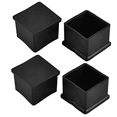 Flyshop Chair Leg Caps Furniture Table Covers Floor Protectors Rubber Square Legs 4 Pack