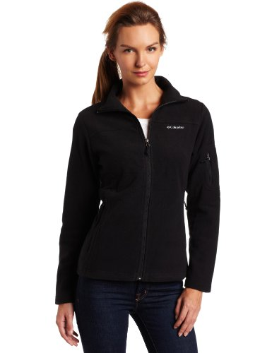 Columbia Women's Fast Trek II Full Zip Fleece Jacket, Black, Large
