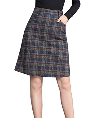 Wool Jacket Skirt Suit - 3