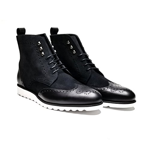 Southern Gents Rogue Wingtip Boots (9, Black Stealth)