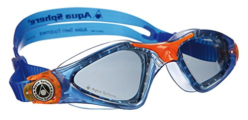 Aqua Sphere Kayenne Junior Goggles, Tinted Lens/Deep Blue Frame