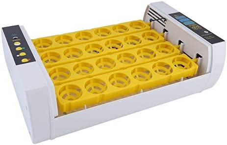 Gris /& Enchufe de la UE JICHUI Totalmente de Control de Humedad autom/ático 24 Huevos cr/ía de Pollos de engorde Poultry Incubadora Hatcher m/áquina con el Huevo Turner Enchufe de la UE