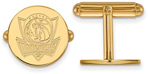 14K Yellow Gold NBA Dallas Mavericks Cuff Links by LogoArt