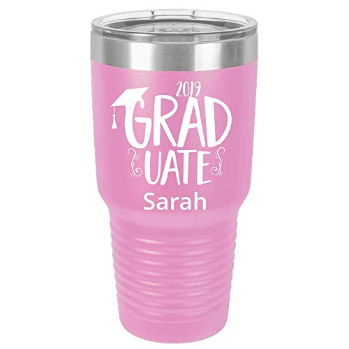 Personalized Polar Tumbler Graduation Gift for Her Him High School PhD MBA Bachelors College Nursing Customized Gifts Graduation, Class 2019 Grad Gifts For Women Men, Graduation Cap Custom Name Mugs (Best Male Gifts 2019)
