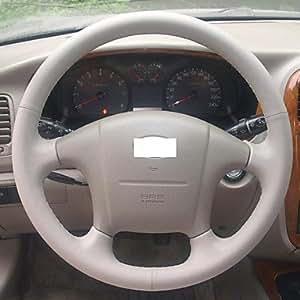 GDW Xuji ™ Negro, volante de cuero genuino para 2004-2008 Hyundai Sonata Sonata 5