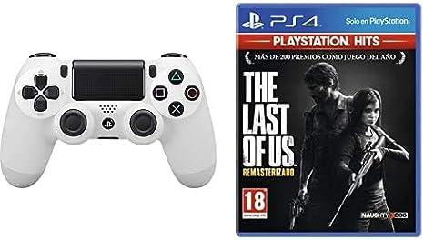 Sony - Dualshock 4 V2 Mando Inalámbrico, Color Blanco (Glacier White) PS4 - Edición Exclusiva Amazon + The Last of us Hits - Versión 14: Amazon.es: Videojuegos