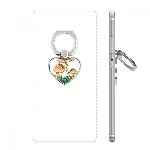 (Cute Green Plant Truffle Illustration Heart Cell Phone Ring Stand Holder Bracket Universal Support Gift)