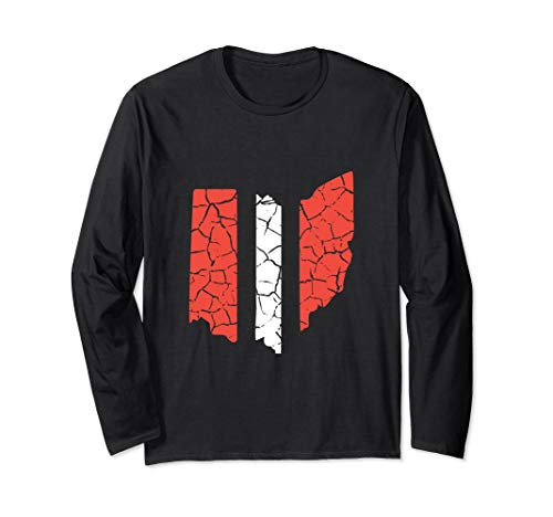 Ohio Stripe Cleveland Shirt For Football Fans Long Sleeve T-Shirt]()