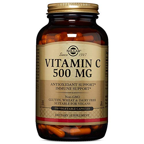 Solgar - Vitamin C 500 mg, 250 Vegetable Capsules - Supports Cardiovascular - Mg C Vitamin 500