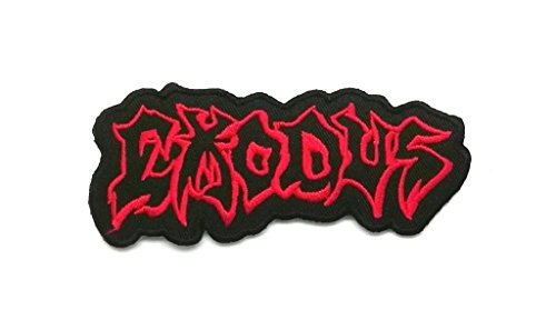Wasuphand New Exodus Black&Red Rock Band Patch Sew Iron On Embroidered Heavy Thrash Metal Music ()