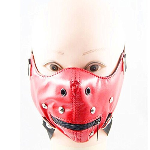 (Crazy Genie Halloween Cosplay Gothic Horror Anti Dust Cycling Bicycle Bike Motorcycle Racing Ski Face Mask (red)