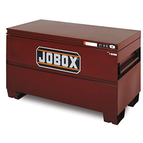 Heavy Duty Jobsite Storage - Jobox 48in. Heavy-Duty Steel Chest - Site-Vault Security System, 15.4 Cu. Ft, 48in.W x 24in.D x 27 3/4in.H, Model# 1-654990