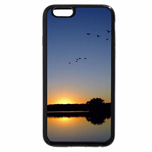 iPhone 6S / iPhone 6 Case (Black) Iowa Sunset
