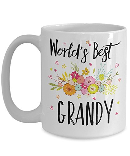 Grandy Mug - World's Best Grandy - Best Grandy Ever - A Thank You And / Or Appreciation Gift - Coffee Cup In 11oz Or 15oz Sizes