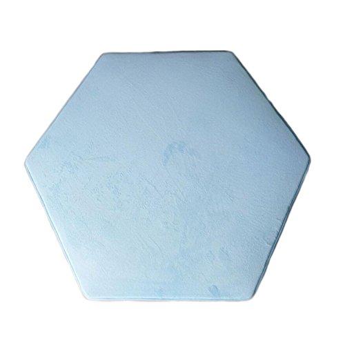 (Hexagonal Rug for Kids Tent Mat Princess Tent Rug Teepee Rug Cushion Floor Rugs Hexagonal Play Tent Rug Teepee Pillows for Girls Boys Coral Velvet 140 x 140 cm)