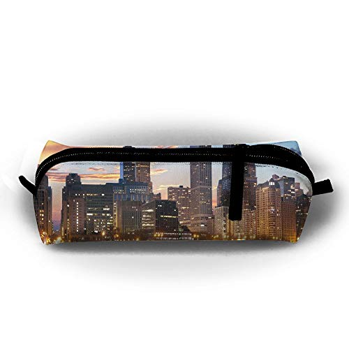 Chicago Skyline Cityscape Stationery Bags Cosmetic