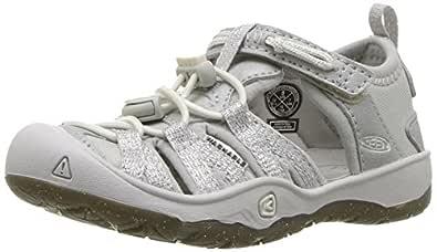 KEEN Unisex Moxie Sandal, Silver, 1 M US Big Kid