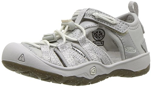 KEEN Unisex Kid's Moxie Sandal, Silver, 4 M US Big Kid (Sandals Kids Keen For)