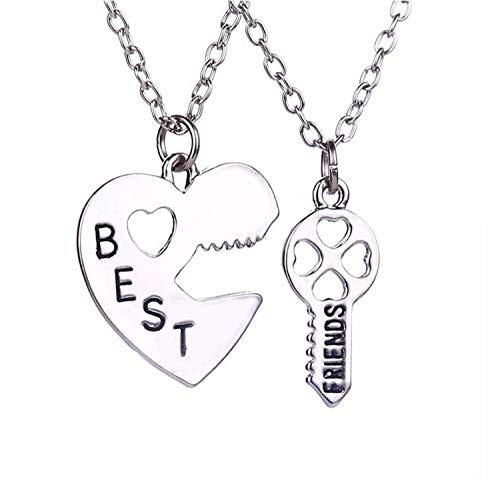 Best Friends Necklace - Friendship Necklace Key