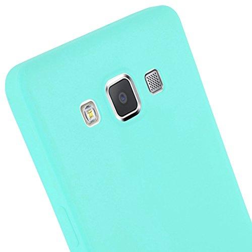 Cadorabo - Cubierta protectora Samsung Galaxy A5 (5) (Modelo 2015) de silicona TPU en diseño Candy �?Case Cover Funda Carcasa Protección en NEGRO-CANDY AZUL-CANDY
