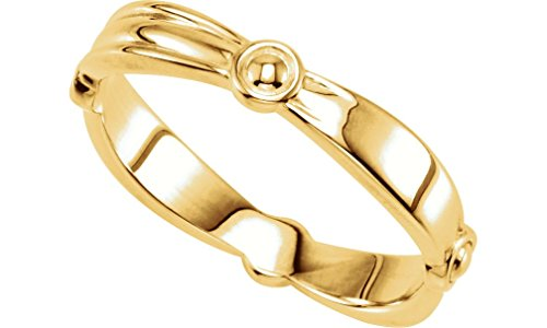 Reverse Tapered Stacking 3.5mm 14k Yellow Gold Ring, Size 7.25 by The Men's Jewelry Store (for HER)