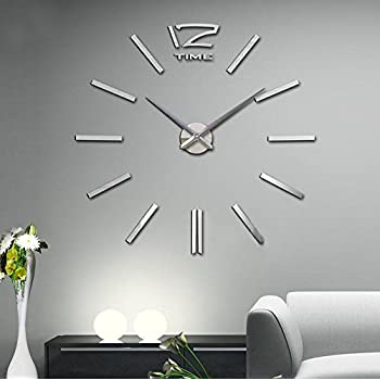 extra large wall clocks contemporary uk huge clock amazon this item modern acrylic mirror metal stickers watches room home decorations year warranty with