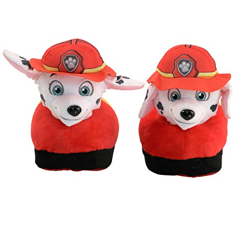 Stompeez Animated Marshal Plush Slippers - Ultra Soft and Fuzzy - Nickelodeon PAW Patrol Character - Ears Move as You Walk - Medium by Stompeez
