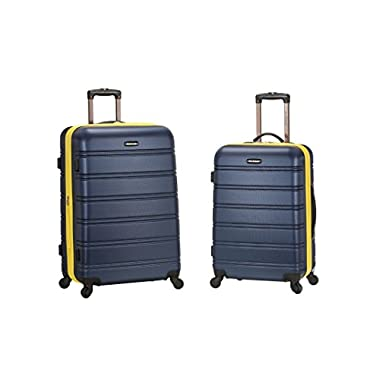 Rockland 20 Inch 28 Inch 2 Piece Expandable ABS Spinner Set, Navy, One Size