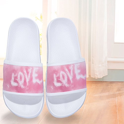 for Buteri Pink Slip Quote Mens Quick Cloud Non Fashion Slippers Drying Womens W Love Slippers PUqrxS4U