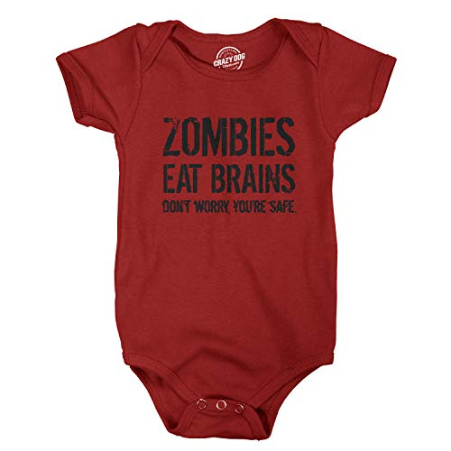 Zombie Mom And Baby Costume - Baby Bodysuit Zombies Eat Brains Youre