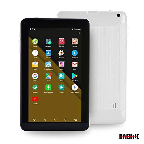 Haehne 9 Inch Tablet PC, Google Android 6.0 Quad Core,800480 Screen, 1.3GHz, Dual Cameras, 1GB RAM 16GB ROM, 3000mAh,Bluetooth, WiFi, White