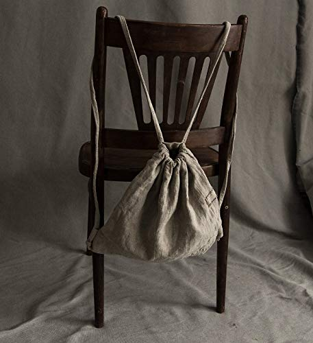 Linen natural grey backpack in boro -
