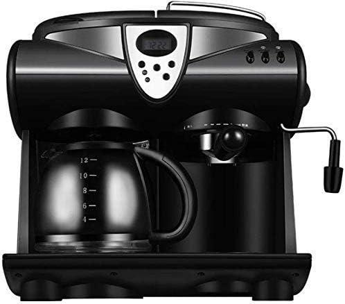 Cafetera con Leche vaporizador, 2-Way Máquina de café for K-Copa vainas de café molido