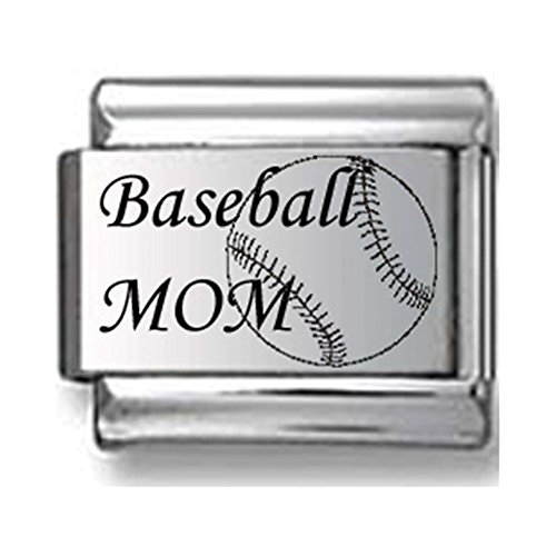 Baseball Mom Laser Italian Charm