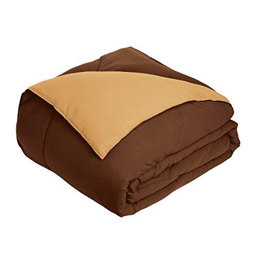 - BrylaneHome Bh Studio Reversible Comforter - Chocolate Latte, Full