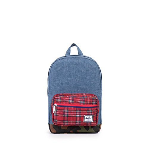 Herschel Supply Co. Pop Quiz Kids, Navy Crosshatch/Red Plaid/Woodland Camo/Red And Navy WP/Red Backtab, One Size