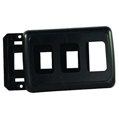 JR Products 12325 Black Triple Switch Base and Face Plate: Automotive