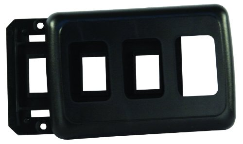JR Products 12325 Black Triple Switch Base and Face Plate