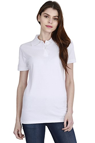 FLEXIMAA Solid Women's Polo Neck T Shirt