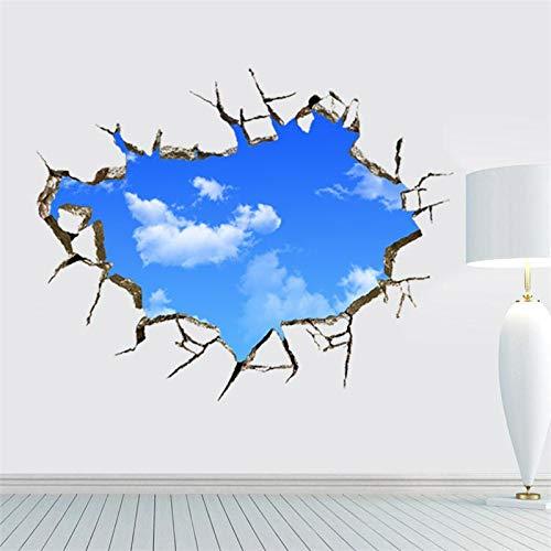 3D Cielo Azul nubes Blancas etiqueta de la pared para niños ...