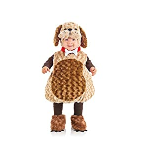 Underwraps Costumes Toddler Puppy Costume - Belly Babies Furry Puppy, Brown/Tan, X-Large
