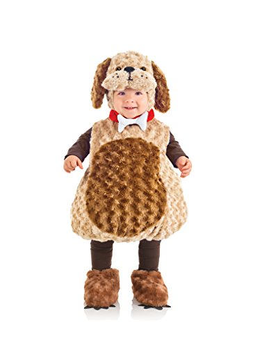 Underwraps Costumes Toddler Puppy Costume - Belly Babies Furry Puppy, Brown/Tan, X-Large -