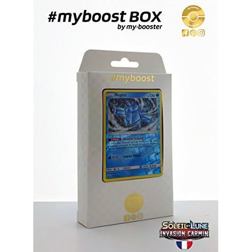 Coffret #myboost REGICE 28/111 - Soleil et Lune 4 Invasion Carmin - 10 cartes Pokemon francaises
