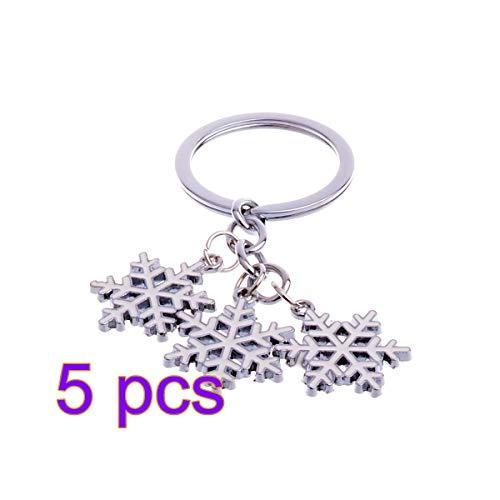 (BESTOYARD Cute Mini Christmas Snowflakes Design Handbag Keychain Key Ring Decorative car Key Chain Trinket Souvenir Key Pendant)
