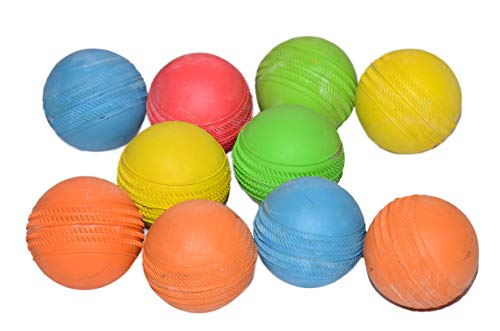 PREM SAGAR Light Weight Rubber Tennis Balls Set of 10 in Assorted Colours