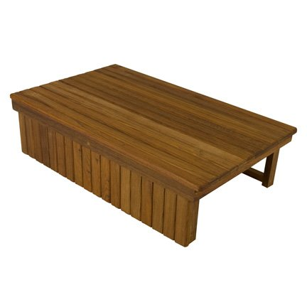 Teak Elevated Shower Mat by Teakworks4u
